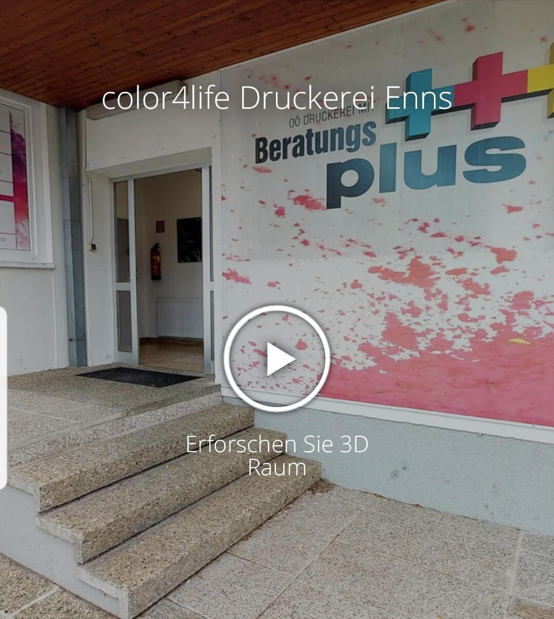 3D Rundgang der color4life Druckerei aus dem jahr 2019