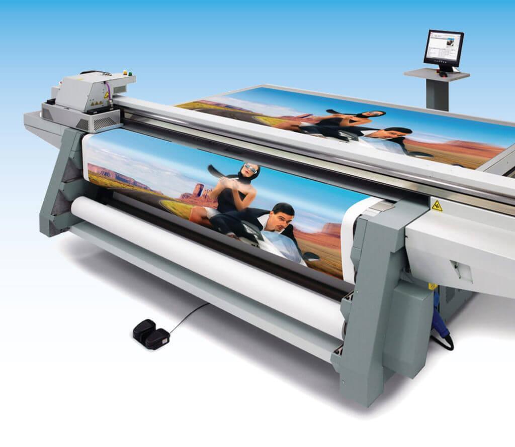 Digital-Druckmaschine Fa. OCÈ Typ Arizona - Flachbrettdrucker für Baustellentafeln