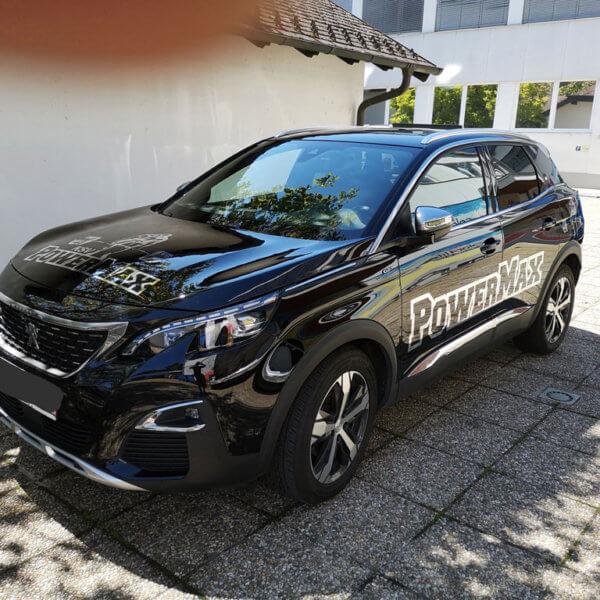 Autobeklebung Powermax in Silver Frontansicht