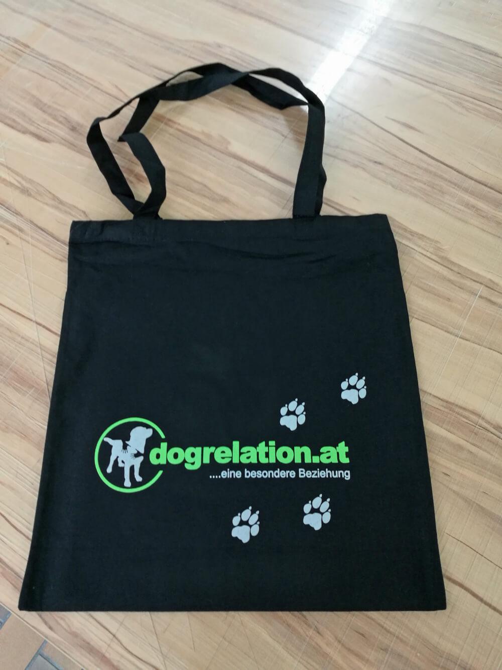 """bedruckte Stofftasche """"flexdruck 2 farben"""" dogrelation.at"""
