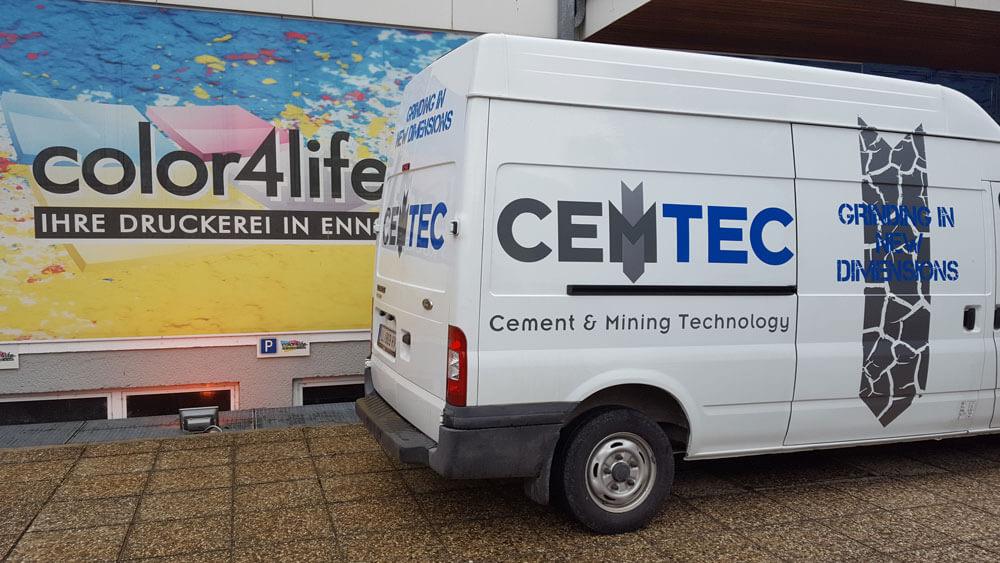 CEMTEC Busbeklebung mit Foliendruck
