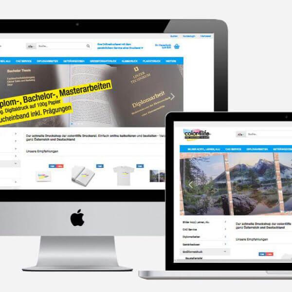 Der Onlineshop von der Druckerei