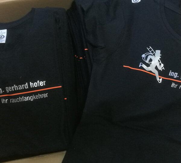 Flexaufdrucke Shirt ihr rauchfangkehrer - ing. gerhard hofer