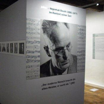 Großformatiger Druck für eine Ausstellung im Museum