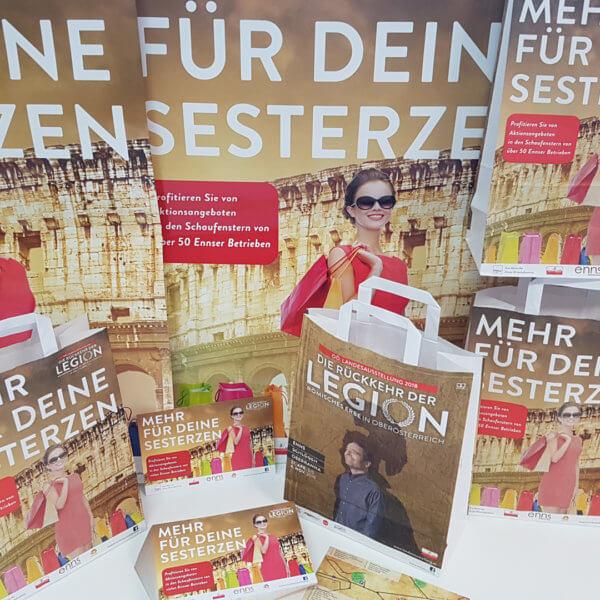 Landesausstellung Druck Flyer und Tragetaschen