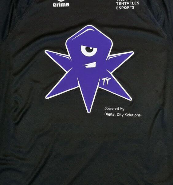 Shirt bedruckt mit Tickling Tentacles Esports