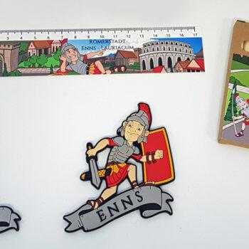 Bedruckte Magnete, Lineal und Stifte