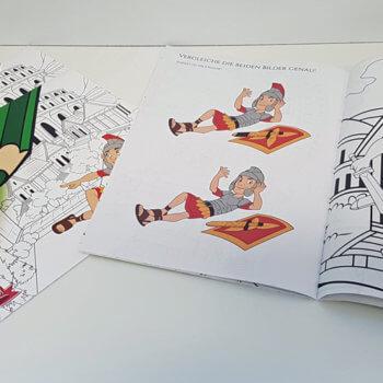 Malbuch mit Römer Themen, selbstproduziert von der Druckerei color4life
