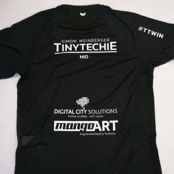 mangoART T-Shirt Textildruck