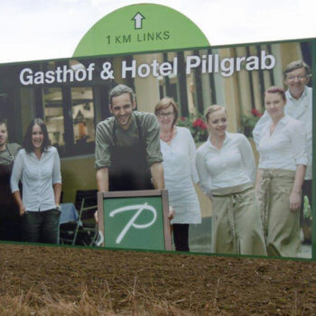 Gasthof & Hotel Pillgrab Plakatwand Aufsteller