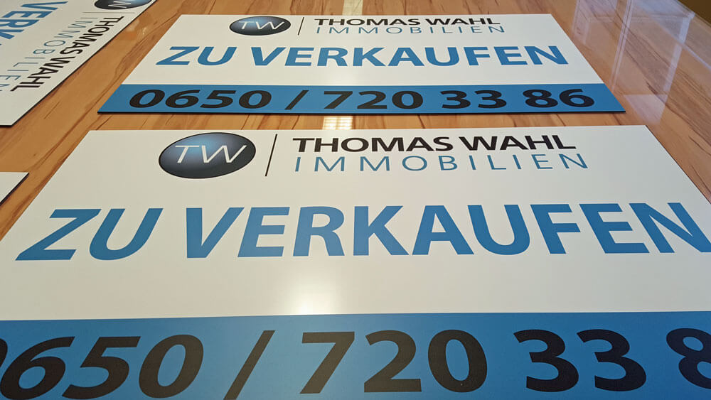 Thomas Wahl Immobilien 0650 7203386 PVC Schild