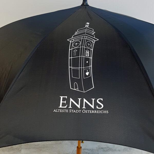 Regenschirm bedruckt mit Foliendruck