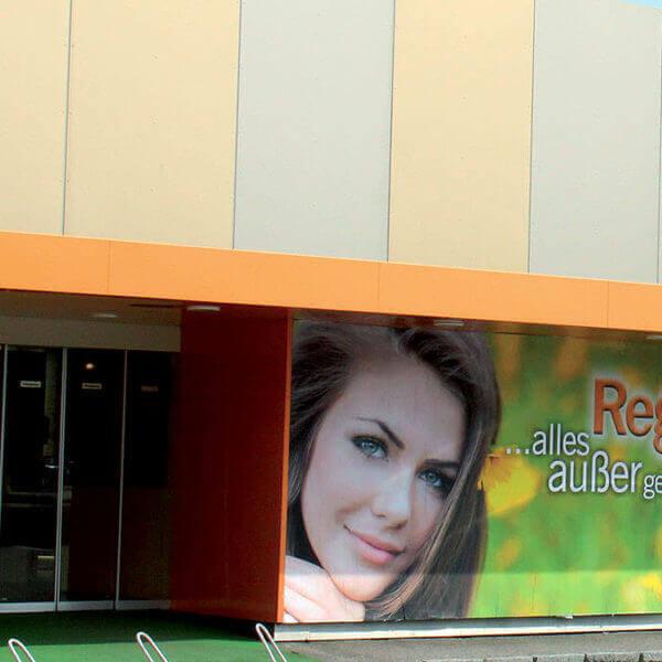 Regina ... alles aßer gewöhlich: Schuhgeschäft aus Linz mit einer Planbedruckung