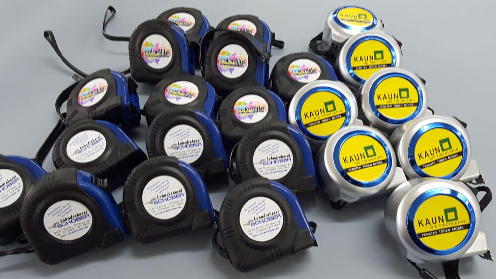 Maßband - Rollmeter Aufdruck mit Logo