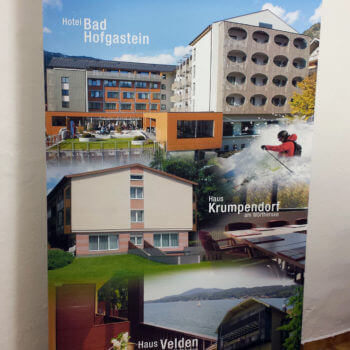 """ProGE Rollup """"Urlaub und Seminar"""" gedruckt und laminiert hier bei uns in Enns"""