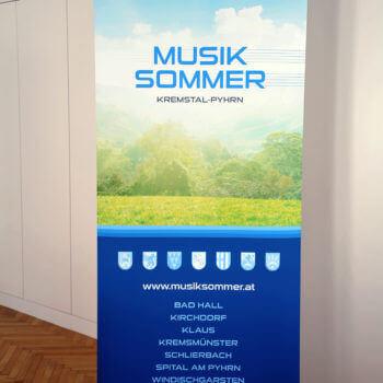 Rollup im Premiumqualität: Musiksommer Bad Hall - Windischgarsten