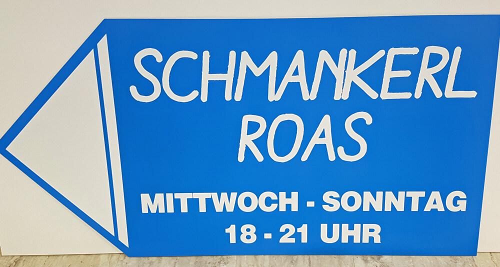 Schmankerroas Wegweiser Schild
