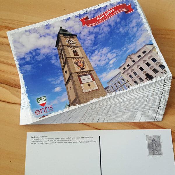 Stadtturm Postkarte aus Enns
