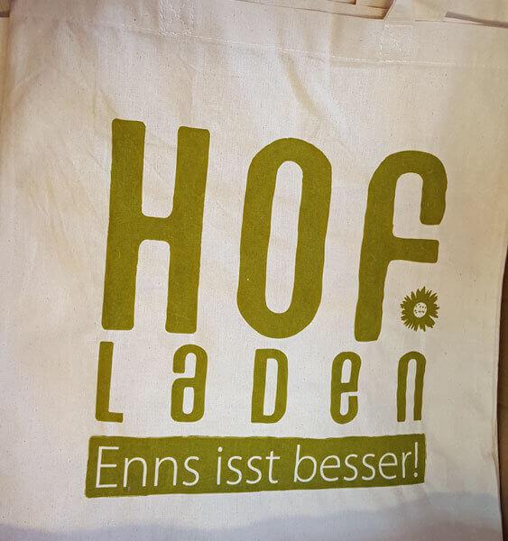 Hofladen - Enns isst besser Stofftasche, Druck