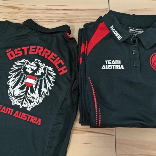 Teamkleidung für die Jugend - Dartweltmeisterschaft Österreichisches Nationalteam