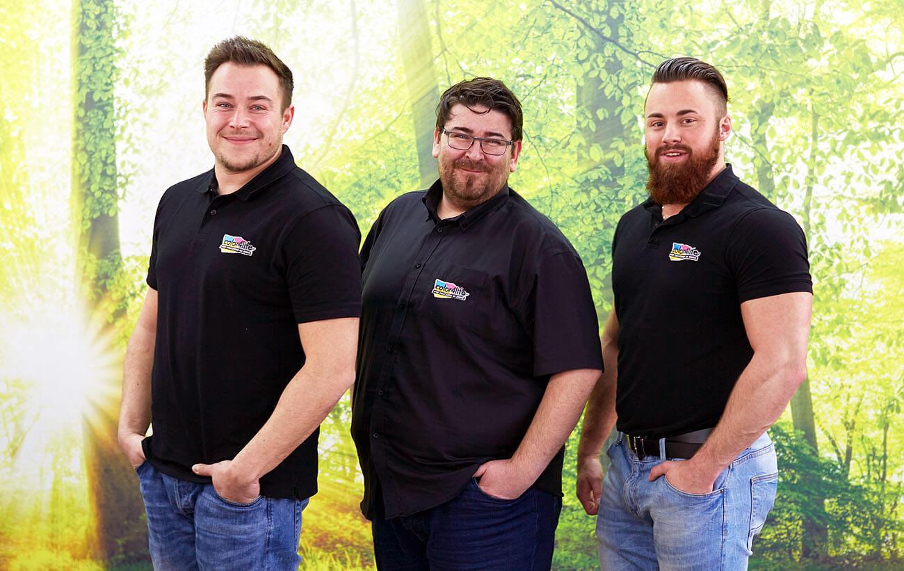 Das Team von der color4life: der Inhaber Herr Tweraser aus St. Valentin führt das Unternehmen bereits seit 2009