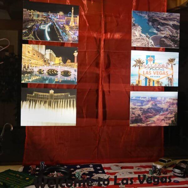 """UV Direktdruck auf Alu-Platten für eine Schaufensterdekoration in Enns """"Welcome in Las Vegas"""""""