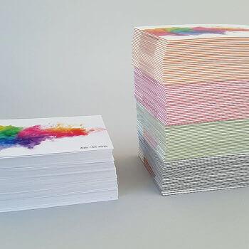 Visitenkarten auf 4lifepaper im Vergleich zu herkömmlichen normalen Visitenkarten