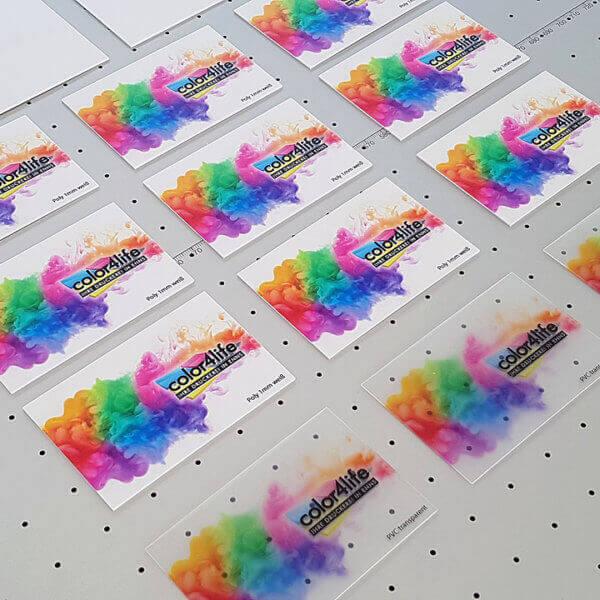 PVC Transparent und Poly Visitenkarten