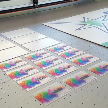 Visitenkarten auf poly plastik bedruckt - für ihren bleibendnen Eindruck